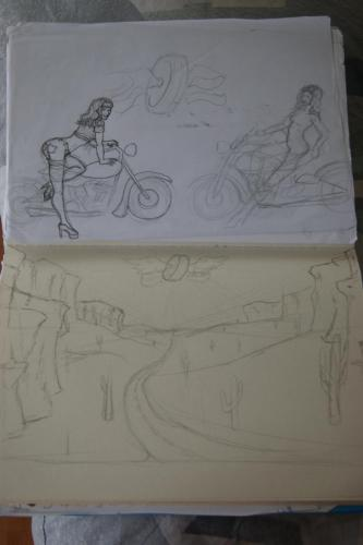 Mural sketches