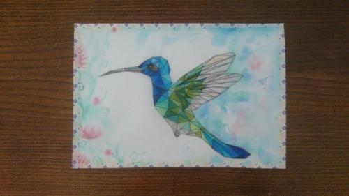 Low Poly Hummingbird