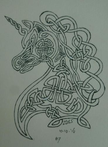 Unicorn knotwork